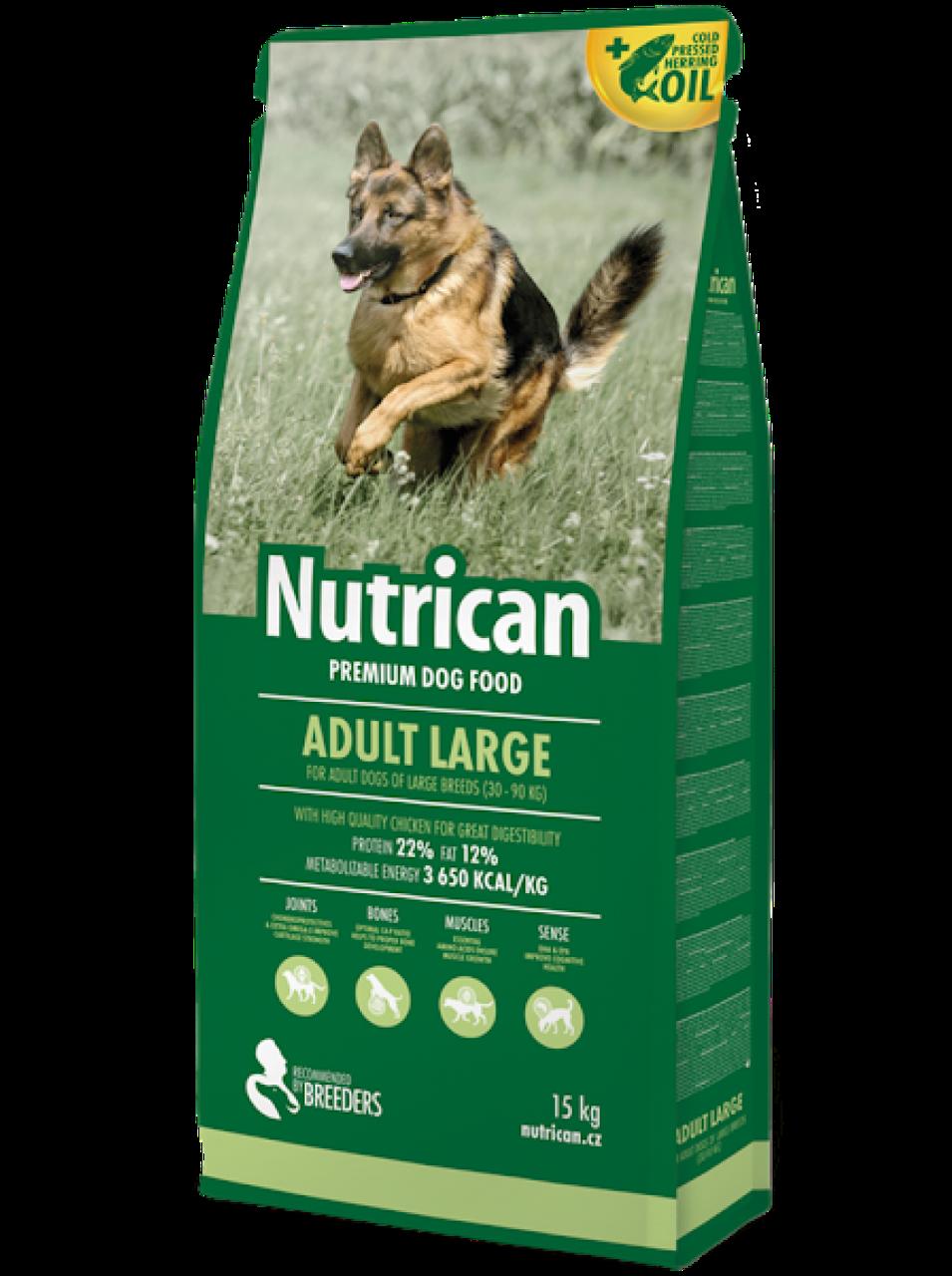Корм Nutrican Adult Large Нутрікан Едалт Лардж для дорослих собак великих порід 15 кг