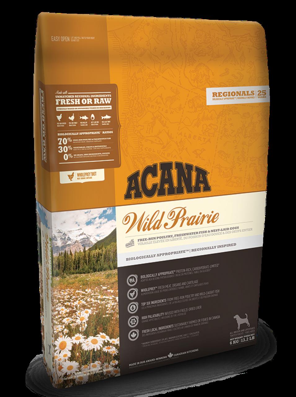 Корм Acana Wild Prairie Dog Акана Вайлд Прерія з курчам для собак всіх порід 340 гр