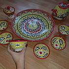 Подарунковий узбецький чайний сервіз Риштан з 10 предметів, фото 8