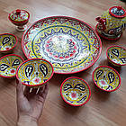 Подарочный  узбекский чайный сервиз Риштан из 10 предметов, фото 7
