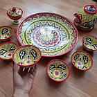 Подарунковий узбецький чайний сервіз Риштан з 10 предметів, фото 7