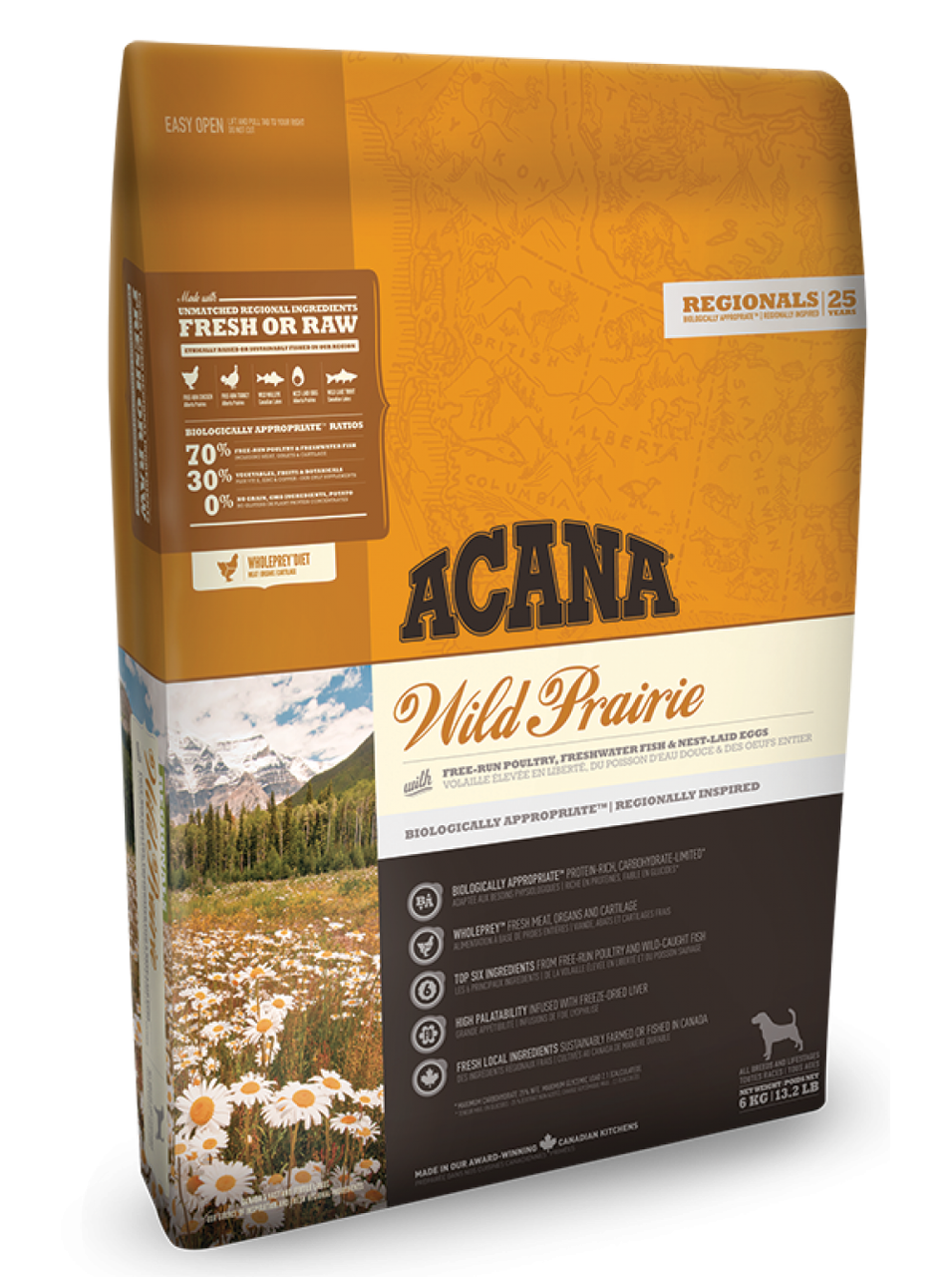 Корм Acana Wild Prairie Dog Акана Вайлд Прерия  цыпленком для собак всех пород 6 кг