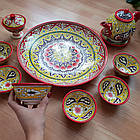 Подарочный  узбекский чайный сервиз Риштан из 10 предметов, фото 6