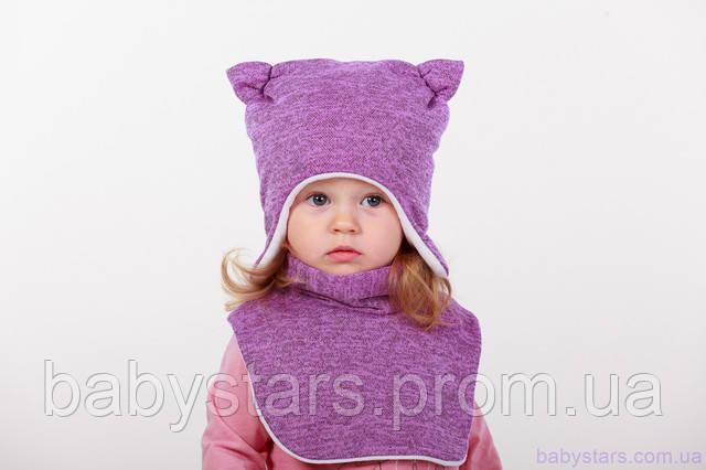 Детская шапочка с манишкой
