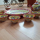 Подарунковий узбецький чайний сервіз Риштан з 10 предметів, фото 5