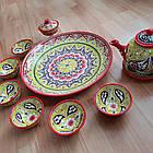 Подарочный  узбекский чайный сервиз Риштан из 10 предметов, фото 4