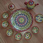 Подарунковий узбецький чайний сервіз Риштан з 10 предметів, фото 3