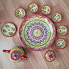 Подарунковий узбецький чайний сервіз Риштан з 10 предметів, фото 2