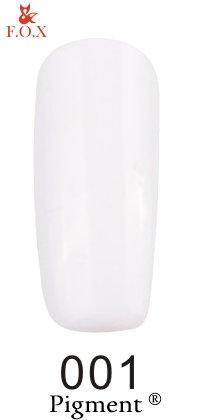 Гель-лак F.O.X Pigment 001 (белый, эмаль), 6 ml