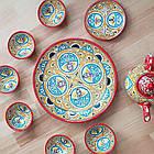 Красивый чайный  сервиз Риштан из 10 предметов Узбекситан, фото 7