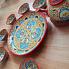 Красивый чайный  сервиз Риштан из 10 предметов Узбекситан, фото 6