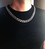 Мужская цепь из серебра Мої Прикраси  60 см панцирное плетение 123 грамм