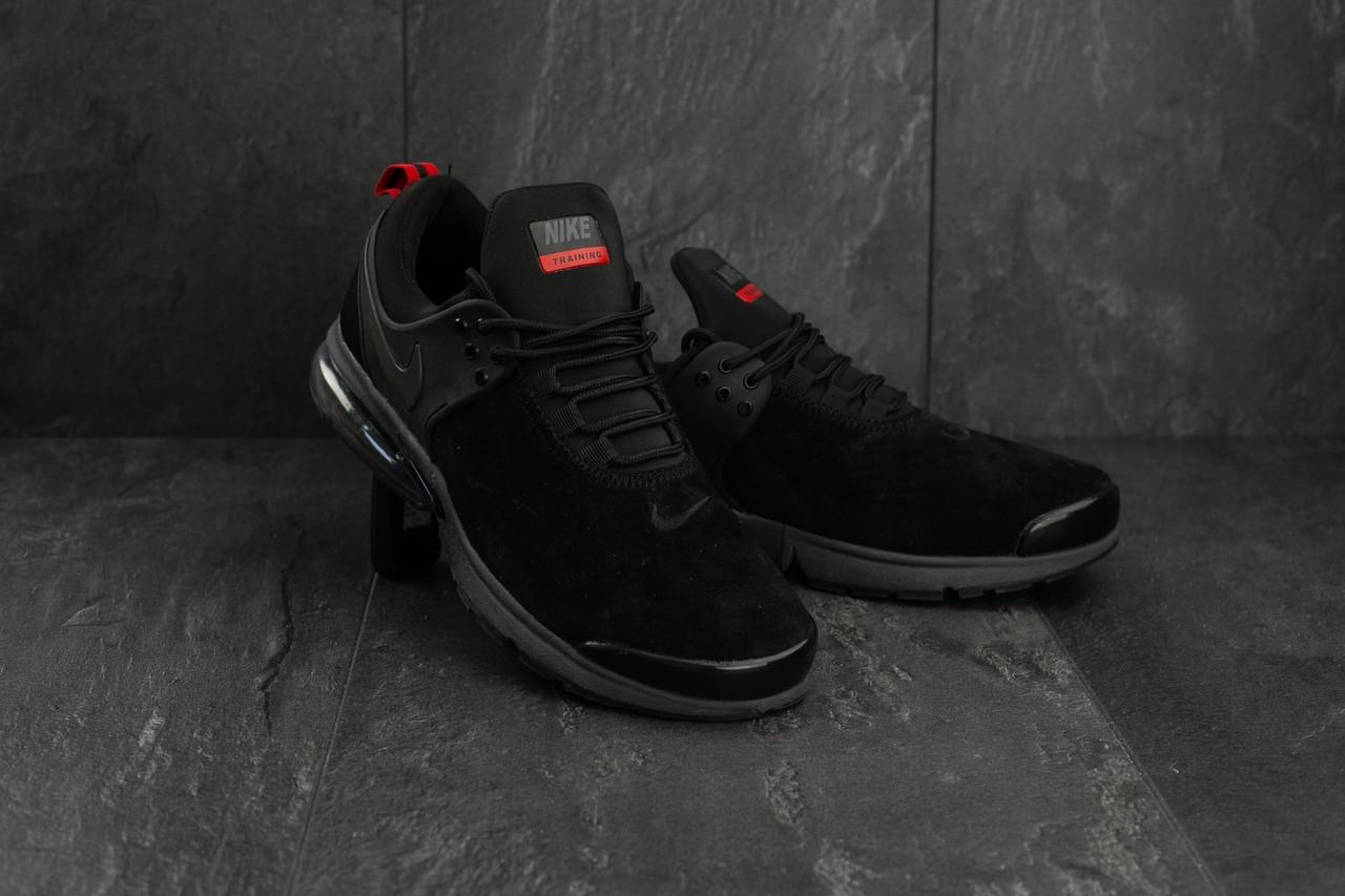 41ea5ff1 Мужские замшевые кроссовки Nike Training черные топ реплика -  Интернет-магазин обуви и одежды KedON