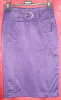 Прямая сиреневая юбка Solar