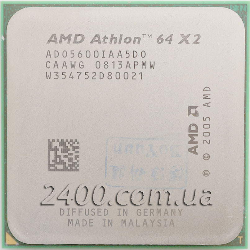 Процесор AMD Athlon 64 X2 5600+ (2900MHz, сокет AM2) ADO5600IAA5DO