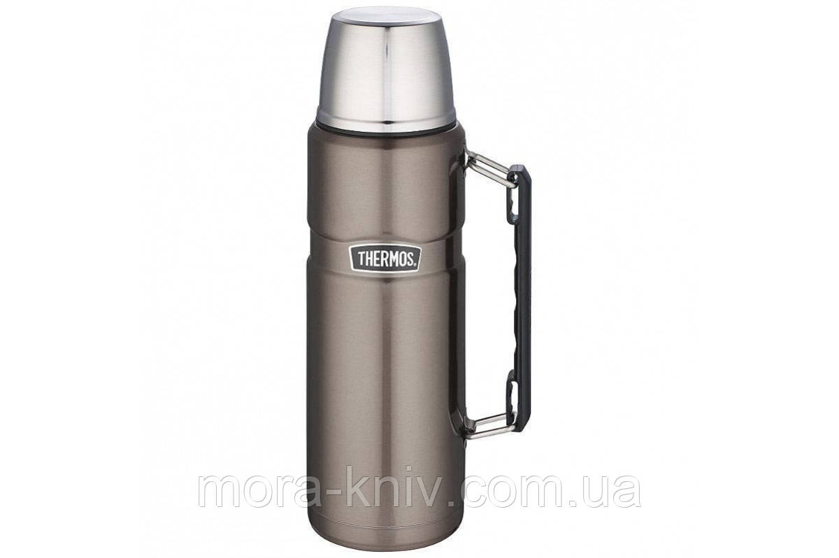 Термос фирмы Термос (Thermos) с чашкой 1,2 л Stainless King Flask, Gun Metal (цвет серый) 170024