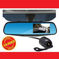 Зеркало-видеорегистратор DVR L900 full hd с выносной камерой заднего вида , фото 1