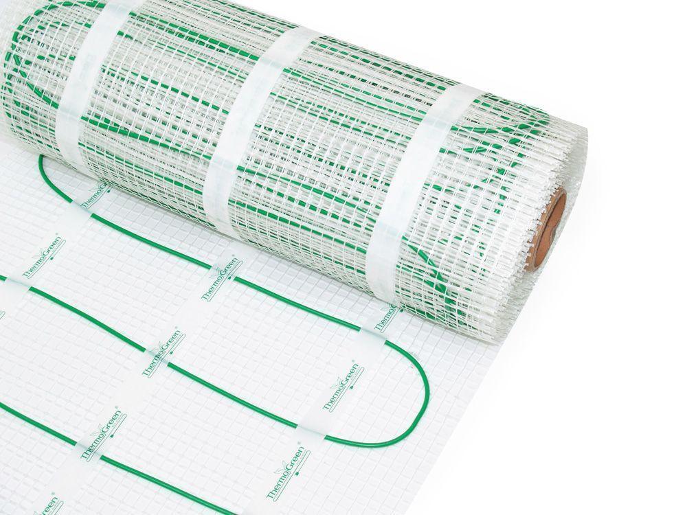 Нагревательный мат экранированный TermoGreen 2 м.кв. (300 Вт), TGMT 150 Вт/м²