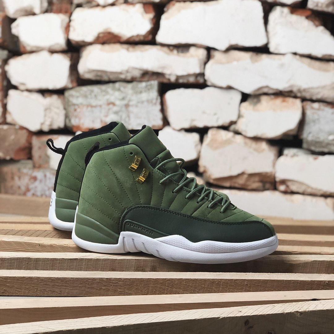 sale retailer 9d361 b97bc Кроссовки в стиле Nike Air Jordan 12 Retro Green мужские