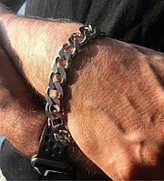 Чоловічий браслет зі срібла Мої Прикраси 22,5 см панцирні плетіння 59 грам