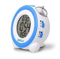 Электронный будильник GOTIE GBE-200R (синий)