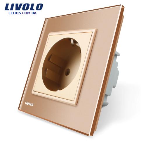 Купить Розетка с заземлением Livolo 8aea90c5b2e09