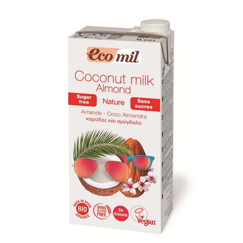 Растительное молоко Ecomil Кокос-миндаль без сахара органическое 1л
