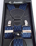 Синие подтяжки с узором Paolo Udini , фото 4