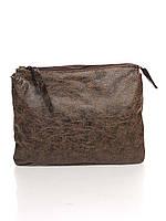Женский клатч 6564_dark_brown кожаный коричневый