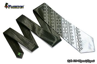 Мужской вышитый галстук стихии Воздух, фото 2