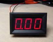 Цифровой Амперметр 0~10А DC Встраиваемый Красный