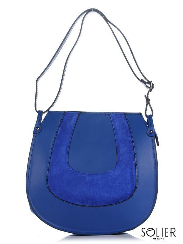 57d338b90544 Кожаная женская сумка синяя Belluno, цена 1 640 грн., купить в Киеве ...