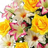 Букет  лилий, роз и крокусов, 63см (5 шт в уп), фото 2