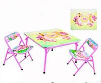 Столик и два стульчика складные