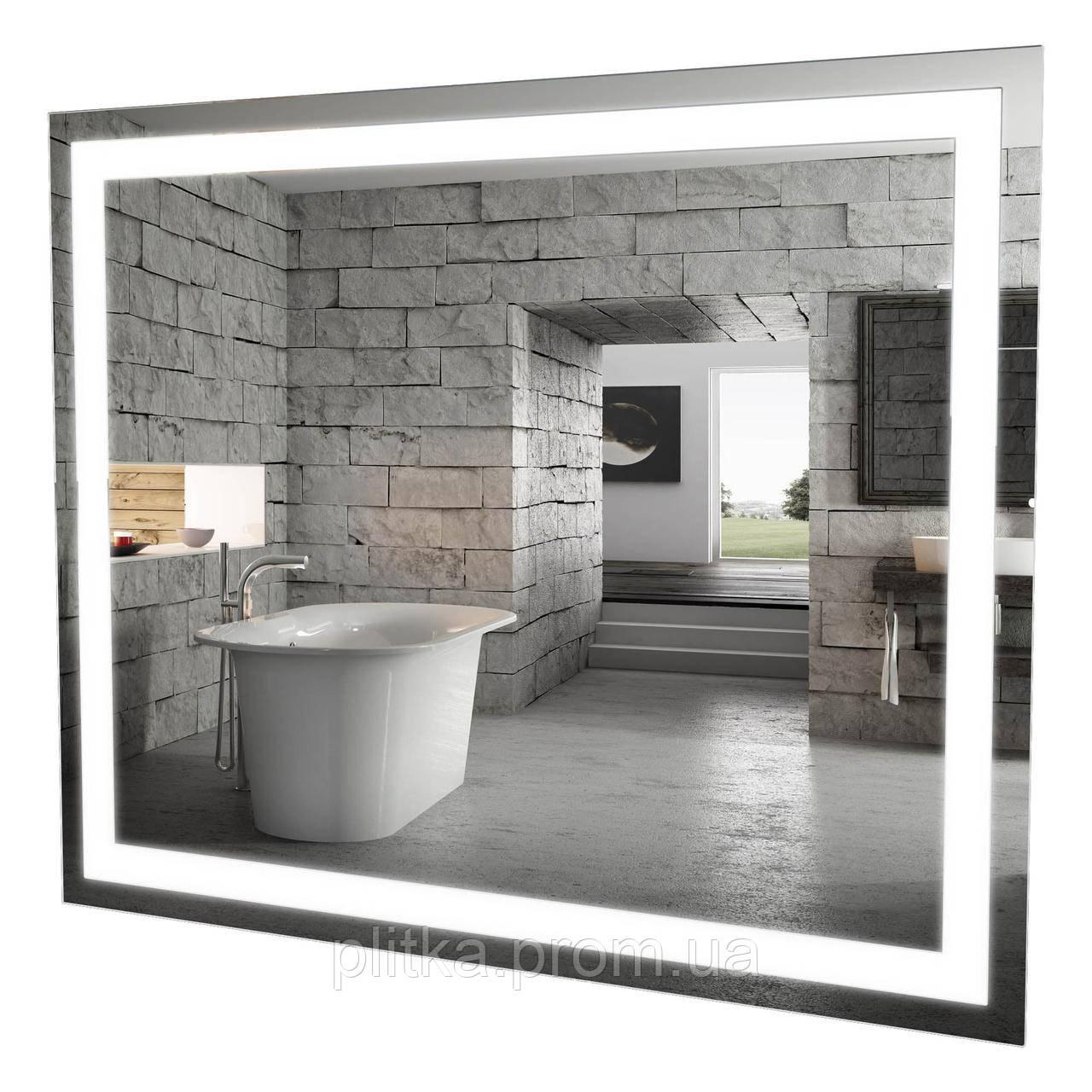 Зеркало Альфа 100 см с LED подсветкой