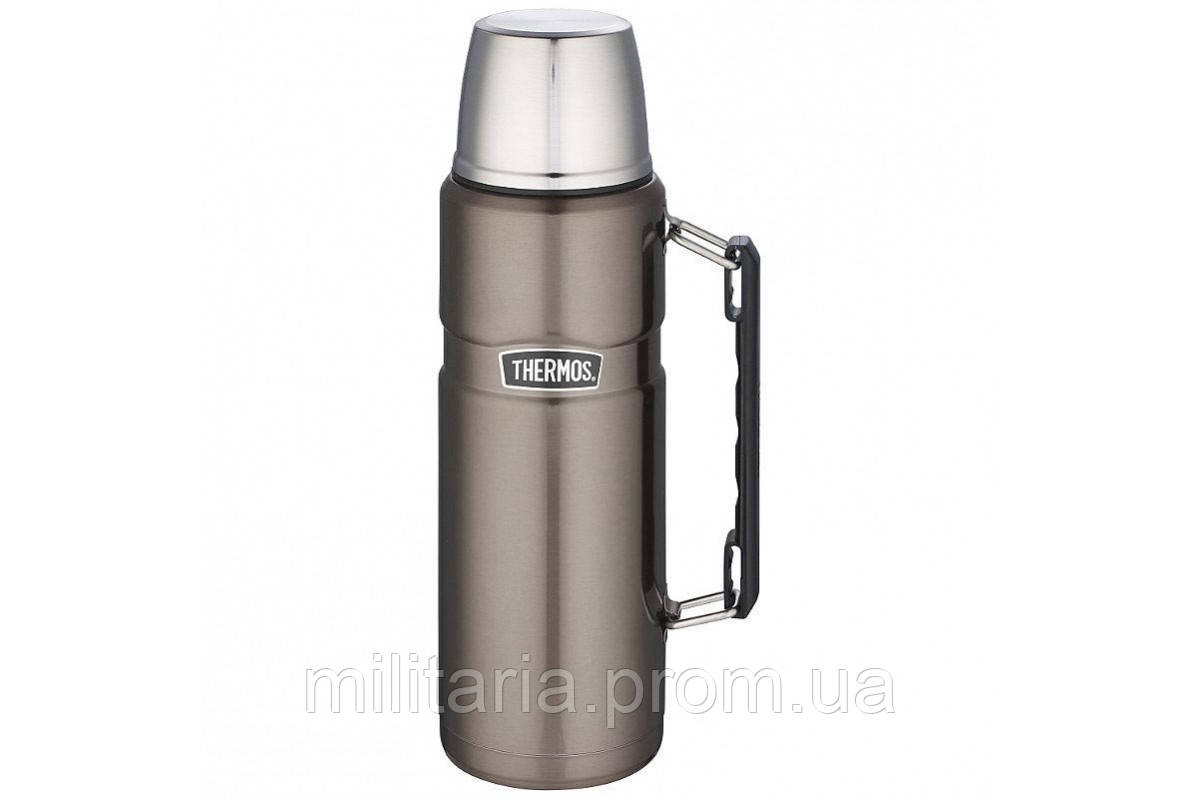 Термос фирмы Термос (Thermos) с чашкой 1,2 л Stainless King Flask, Gun Metal (цвет серый) 170024