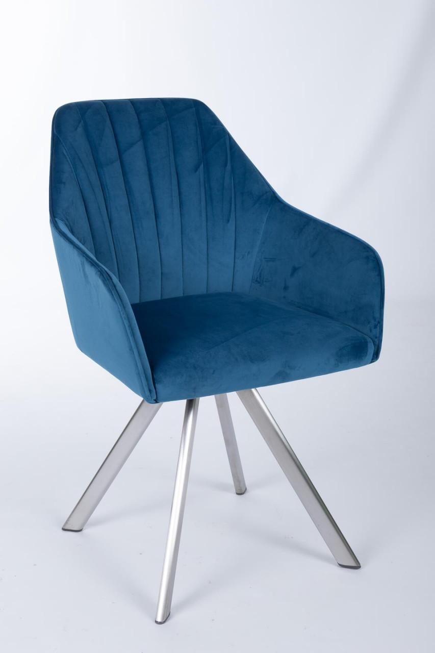 Кресло поворотное Galera (Галера) синий велюр от Niсolas