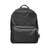 Кожаный женский рюкзак черный Зайка Dekey