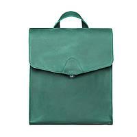 Кожаный рюкзак женский зеленый Dekey