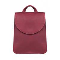 Кожаный рюкзак женский красный Элион