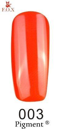 Гель-лак F.O.X Pigment 003 (кислотный оранжевый,эмаль), 6 ml