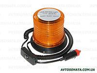 Мигалка светодиодная 117*87.5*103 12-24V 30LED оранжевая с перекл. вкл/выкл