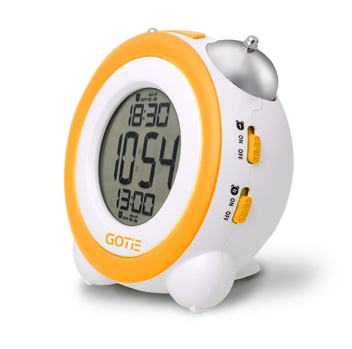 Электронный будильник GOTIE GBE-200R (жёлтый)