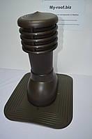 Вентиляционные и кровельные выходы KRONO-PLAST KPG 1-7, Ø 125,  RAL 8019 темно-коричневый под покрытие