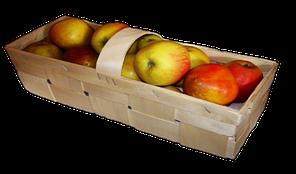 Эко упаковка корзинка 130*130*45мм, плетёная форма из дерева (шпона)