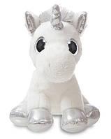 Мягкая игрушка Aurora Единорог Silver сияющие глазки 20 см (150710K)