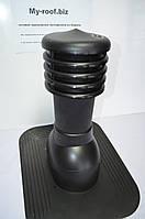 Вентиляционные и кровельные выходы KRONO-PLAST KPG 1 - 2, Ø 125, RAL 9005 черный  под покрытие