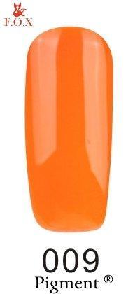 Гель-лак F.O.X Pigment 009 (ярко-оранжевый, эмаль), 6 ml
