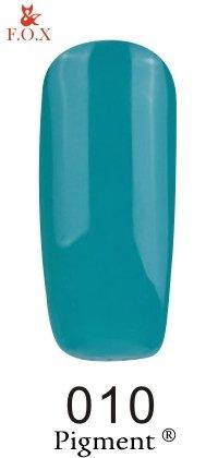 Гель-лак F.O.X Pigment 010 (бирюзово-зеленый, эмаль), 6 ml