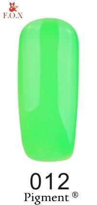 Гель-лак F.O.X Pigment 012 (кислотно-зеленый, эмаль), 6 ml
